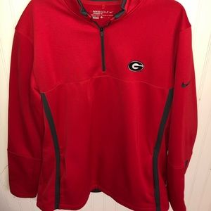 Nike Georgia Bulldogs golf 1/4 zip pullover